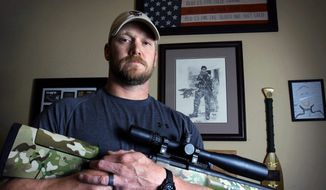 """Chris Kyle is credited with 160 kills in Iraq, making him, as his book says, """"the most lethal sniper in U.S. history."""" (Associated Press)"""