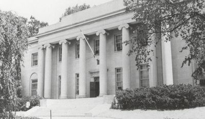 The East Building, one of the historic structures that will be saved as part of the GSA decision to preserve OSS headquarters, the original Naval Observatory and other buildings adjacent to the State Dept.. (OSS Society)