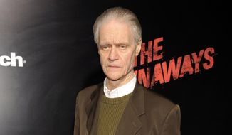 "FILE - In this March 11, 2010 file photo, rock manager and producer Kim Fowley arrives at the premiere of the film ""The Runaways"" in Los Angeles. Fowley, the colorful rock musician who produced for The Runaways and co-wrote songs for Kiss and Alice Cooper, has died after a long battle with bladder cancer, his wife said Friday, Jan. 16, 2015. He was 75. (AP Photo/Chris Pizzello, File)"