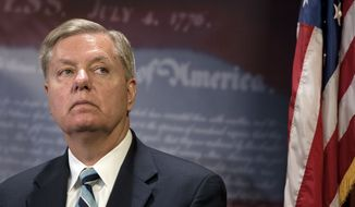 Sen. Lindsey Graham, South Carolina Republican and an outspoken critic of Mr. Obama's foreign policy, said additional sanctions would reinforce rather than undermine the U.S. bargaining position with Iran. (Associated Press)