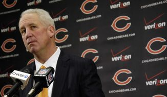 Chicago Bears NFL football team new head coach John Fox speaks at a news conference at Halas Hall in Lake Forest, Ill., Monday, Jan. 19, 2015. Fox has signed a four-year deal to become the team's 15th head coach in franchise history. (AP Photo/Daily Herald, John Starks) MANDATORY CREDIT; MAGS OUT