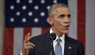 President Obama has now issued veto threats in three of his State of the Union addresses. (Associated Press)
