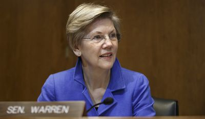 Rising progressive hero Sen. Elizabeth Warren, the first-term Massachusetts Democrat, is being urged to run for president by leading liberal groups such as MoveOn and Democracy for America. (Associated Press)