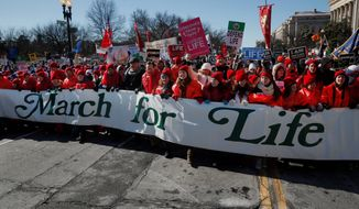 "Pro-life supporters are gathered in Washington this week for the annual March for Life. More than half a million people are expected to participate in the 41st annual march and most of them will be young people - better known as ""millennials,"" writes Christy Stutzman. (Associated Press)"