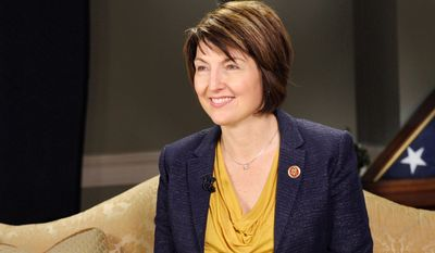 Rep. Cathy McMorris Rodgers of Washington is one of four lawmakers who will stand in support of the March for Life when the rally kicks off at noon on the Mall Thursday. (Associated Press)