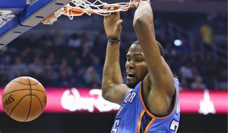 Thunder forward Kevin Durant's return Wednesday to face the Wizards has fans thinking again about the possibility of the D.C. native playing for his hometown team in 2016. (Associated Press)