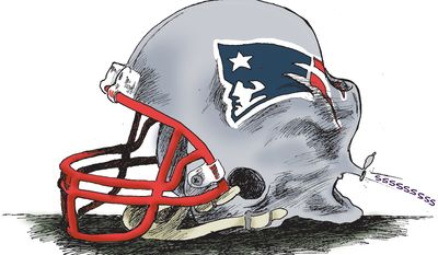 Deflating (Illustration by Scott Stantis of the Chicago Tribune)