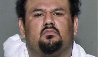 This undated law enforcement booking photo provided by the Maricopa County, Ariz., Sheriff's Office shows Apolinar Altamirano. A surveillance video that captured the killing of a Phoenix-area convenience store clerk shows the suspect, Altamirano, calmly walking behind the counter after pulling the trigger, stepping over the fallen victim and grabbing several packs of Marlboros before slowly exiting. The chilling depiction was outlined in a court document Friday, Jan. 23, 2015, as a Maricopa County Superior Court judge set bail at $1 million. (AP Photo/Maricopa County Sheriff's Office) ** FILE **