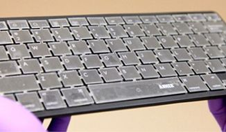 """Intelligent' computer keyboard can identify users by the pattern of their key taps. (American Chemical Society)"