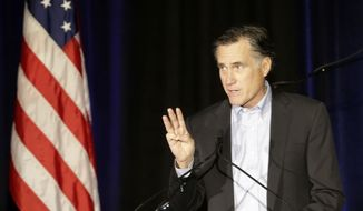 """Even Mitt Romney has moved to distance himself from his notorious """"47 percent"""" remarks as he prepares for a third run at the White House, saying that the GOP needs to find ways to connect with middle class families that are struggling to make ends meet. (Associated Press)"""