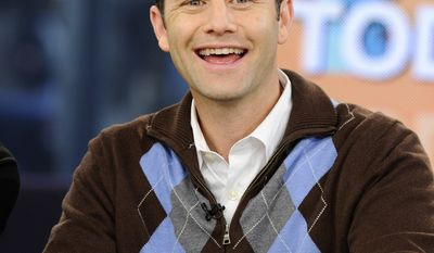 """In this photo provided by NBC Universal, actor Kirk Cameron co-hosts on NBC's """"Today"""" show as part of Hollywood Heartthrobs week, in New York, on Tuesday, March 16, 2010. (AP Photo/NBC, Peter Kramer)"""