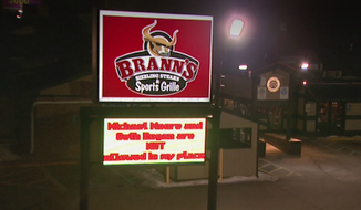 The owner of Brann's Steakhouse in Grand Rapids, Michigan, is so outraged by recent comments from Michael Moore and Seth Rogen that he has banned the celebrities from eating at his restaurant. (WOOD-TV)