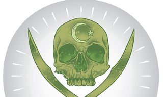 Illustration on accurately identifying Islamist terror by Linas Garsys/The Washington Times