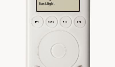 This is an undated handout photo of the new iPod. True to Apple Computer's reputation, the latest generation of iPod music players is slicker, slimmer and more stylish than its predecessors without any sacrifice in sound quality. But the latest reflection of Apple style does come at a price _ a shorter battery life, overly touchy buttons and a new FireWire cable that ultimately make the latest models just a bit less convenient than earlier ones. (AP Photo/handout)