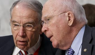 Senate Judiciary Committee Chairman Chuck Grassley (left) and Sen. Patrick J. Leahy led the confirmation hearings for Loretta Lynch, President Obama's choice to run the Justice Department. Republicans acknowledged that she has the experience and independence for the position, and reserved their criticism for the man she is to replace: Attorney General Eric H. Holder Jr. (Associated Press)