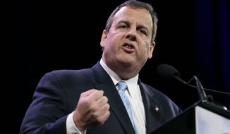 New Jersey Gov. Chris Christie speaks during the Freedom Summit in Des Moines, Iowa, in this Jan. 24, 2015, file photo. (AP Photo/Charlie Neibergall)