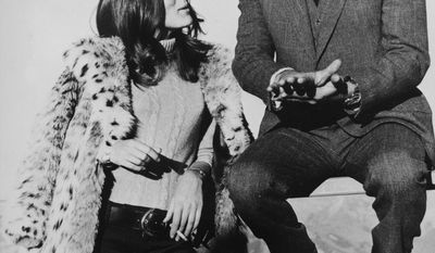 "Actor George Lazenby and actress Diana Rigg experienced the Schilthorn firsthand during shooting of the James Bond film ""On Her Majesty's Secret Service."" (Associated Press)"