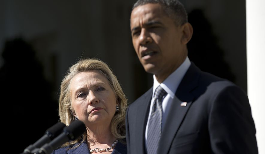 Democrats were gleeful when Republicans Chris Christie and Rand Paul got tangled this week in the debate over the Disneyland measles outbreak, until similar words from the pasts of President Obama and 2016 front-runner Hillary Rodham Clinton came out. (Associated Press)