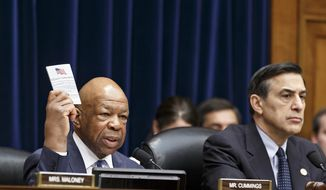 "Reps. Darrell Issa of California and Elijah Cummings of Maryland have introduced bipartisan legislation that will better the Freedom of Information Act process, and foster ""openess"" in America. (AP Photo)"
