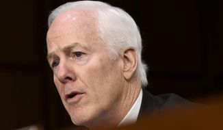 Sen. John Cornyn, R-Texas, speaks on Capitol Hill in Washington in this Jan. 28, 2015, file photo. (AP Photo/Susan Walsh, File)