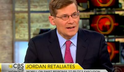 Michael Morell, former deputy director of the CIA, says 100,000 ground troops are needed to defeat the Islamic State group. (Image: CBS screenshot)