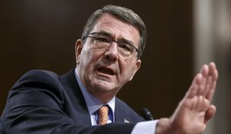 Ashton Carter's performance before the Senate Armed Services Committee provoked an immediate response from the White House, where the chief presidential spokesman Joshua Ernest cautioned that Mr. Obama, and not Mr. Carter, sets policy. (Associated Press)