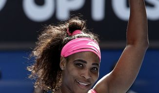 Serena Williams, above, at the 2015 Australian Open, will play in the BNP Paribas Open in Indian Wells, Calif., next month, ending a personal boycott that began when she was booed at the 2001 event. (AP Photo/Lee Jin-man)