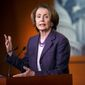 While saying she would likely attend Israeli Prime Minister Benjamin Netanyahu's appearance before Congress, House Minority Leader Nancy Pelosi, California Democrat, maintains her hope that the March event will be called off. (Associated Press)