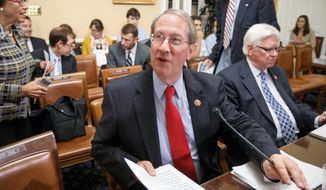House Judiciary Committee Chairman Bob Goodlatte, Virginia Republican, introduced the Innovation Act in April.  (AP Photo)