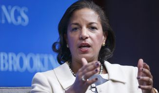National Security Adviser Susan Rice speaks at the Brookings Institution to outline President Barack Obama's foreign policy priorities, Friday, Feb. 6, 2015, in Washington. (AP Photo/J. Scott Applewhite) ** FILE **