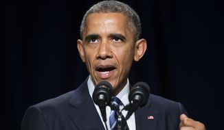 FILE - In this Feb. 5, 2015, file photo, President Barack Obama speaks during the National Prayer Breakfast in Washington, Thursday, Feb. 5, 2015. Obama's proposal to make two years of college free will get a key test Friday, Feb. 6, 2015, as he travels to Indiana, a red state where making college more affordable and increasing graduation rates are squarely in the spotlight. (AP Photo/Evan Vucci, File)