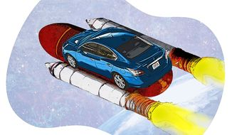 NASA Partnership with Nissan Illustration by Greg Groesch/The Washington Times
