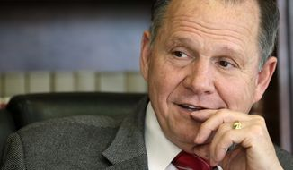 """""""The U.S. district courts have no power or authority to redefine marriage,"""" said Alabama Supreme Court Chief Justice Roy S. Moore. (Associated Press)"""