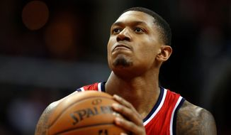 Wizards guard Bradley Beal will sit out his third straight game with a big toe injury on Wednesday in Toronto. (Associated Press)
