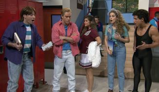 "From the Youtube video of ""Saved by the Bell"" reunion"