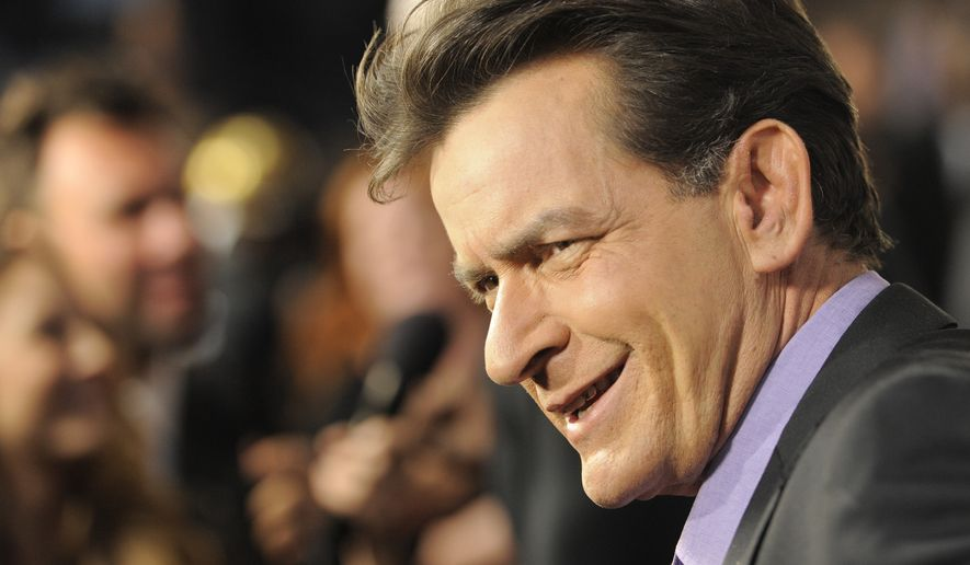 """Actor Charlie Sheen says he considers himself a """"constitutional Republican"""" and that he'd like to use his celebrity to run for president. (Associated Press)"""