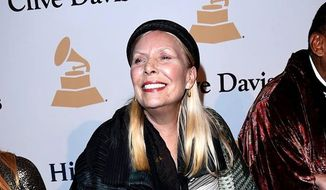 "In a wide-ranging interview with New York magazine, Canadian folk singer Joni Mitchell spoke about how she identifies with black men because of how she's been treated in the entertainment business, saying ""I have experienced being a black guy on several occasions."" (Twitter/JoniMitchellcom)"