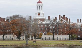 This Nov. 13, 2008 file photo shows the campus of Harvard University in Cambridge, Mass. (AP Photo/Lisa Poole, File)