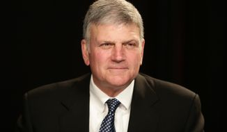 Franklin Graham before an interview at The Associated Press office on Tuesday, Oct. 15, 2013, in New York. (AP Photo/Peter Morgan) ** FILE **