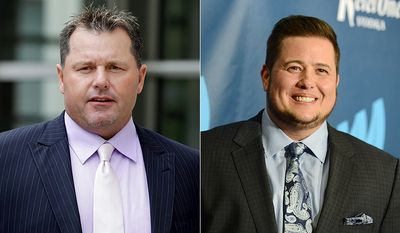 Former MLB pitcher Roger Clemens and Chaz Bono.
