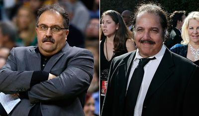 Detroit Pistons head coach Stan Van Gundy and adult film actor Ron Jeremy.