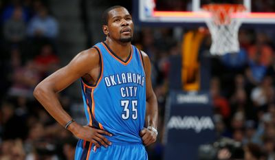 Oklahoma City Thunder forward Kevin Durant is now a follower of the Marshawn Lynch school of media. He speaks to the marketing media that puts money in his wallet. (Associated Press)
