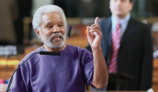 Nebraska State Sen. Ernie Chambers, of Omaha, likens police to Islamic State terrorists. (AP Photo)