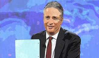 Jon Stewart Illustration by Greg Groesch/The Washington Times