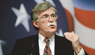 Former U.N. Ambassador John Bolton heads to New Hampshire for a meeting with Scott Brown and a breakfast hour appearance at the New Hampshire Institute of Politics on Friday. (Associated Press)