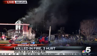 Witnesses said George Steele, a 65-year-old Vietnam War veteran and Purple Heart recipient, went back into his burning Decatur mobile home several times to save his family and pets. (NBCDFW)
