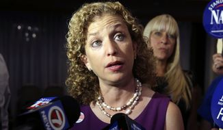"DNC Chairwoman Debbie Wasserman Schultz made a splash Thursday by rebutting former New York Republican Mayor Rudolph W. Giuliani, who said this week that he does ""not believe that the president loves America."" She denounced the remarks and challenged potential Republican presidential candidates and other GOP leaders to disavow the remarks. (Associated Press)"
