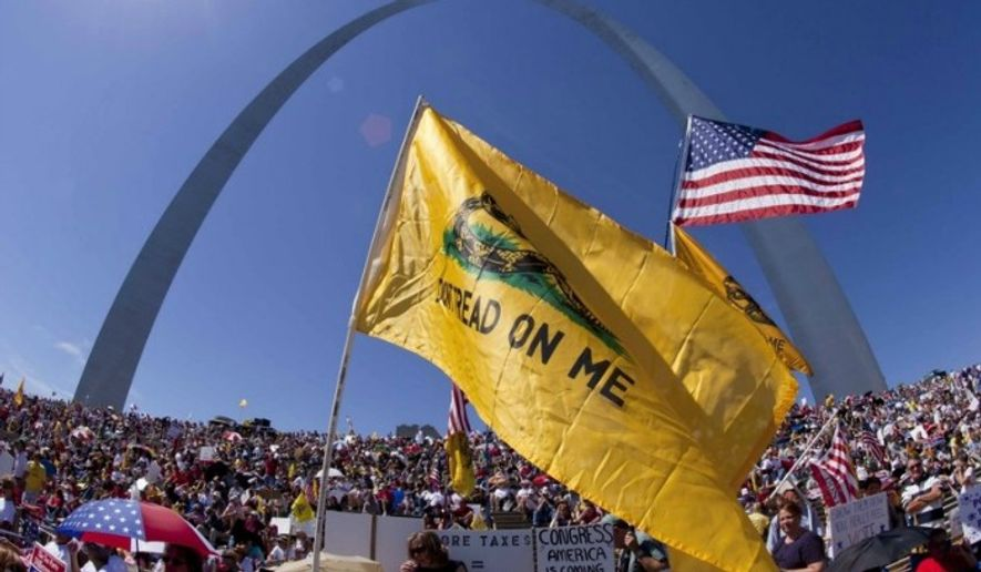 Tea Party members gather in St Louis, Mo., Sept. 12, 2010. (Associated Press) ** FILE **