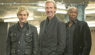 Mike Rutherford (center), Tim Howar (left) and Andrew Roachford on vocals bring Mike and The Mechanics back to the U.S. for the first time in more than a decade.