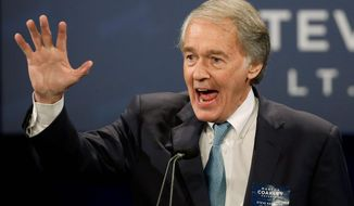 "Sen. Edward J. Markey, Massachusetts Democrat and strong net neutrality advocate, said Thursday should be declared ""Internet Innovation Freedom Day."" (Associated Press)"